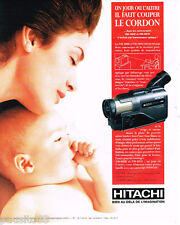 PUBLICITE ADVERTISING 085  1995  HITACHI   caméscope VM-H80E