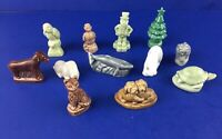 Lot Of 12 Wade Red Rose Tea Figurines Turtle Polar Bear Puppies Cat Bunny ETC