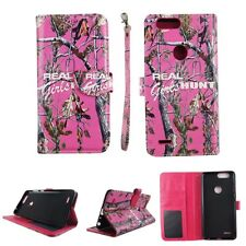 CASE ZTE BLADE Z MAX PRO 2 WALLET COVER FOLIO LEATHER ID CARD HOLDER CAMO RGHT