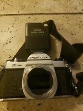 Pentax K1000 35mm Film SLR Manual Focus Camera Body, Chrome/Black - UG