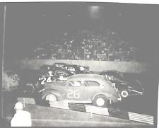 Original 4X5 Picture Negative Stock Car Race 1953 Soldier Field  4 Wide 1058