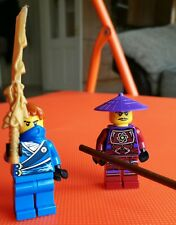 Lego Ninjago Minifigures - Jay rebooted and staff and samurai weapons 70723.