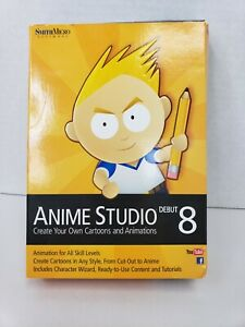 Smith Micro Anime  Studio 8  Deluxe Free Shipping! See pictures & details
