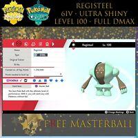 6IV ✨SHINY REGISTEEL ✨ Pokémon Sword and Shield Crown Tundra DLC✨
