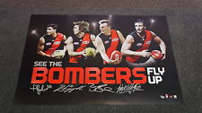 Essendon Signed OFFICIAL AFL Licensed Print Jobe Watson Dyson Heppell Goddard