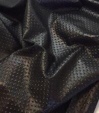Genuine Italian lambskin Glazed Embossed Leather Hide Skin Hides LC23 Black