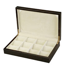 Diplomat 12 Pocket Watch Case Black Storage Display w/ Cream Interior 31-51801