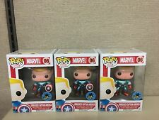 Funko POP! Marvel - Unmasked Captain America Comikaze Exclusive #06 *IMPERFECT*