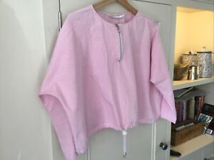 Zara Trafaluc Collection Cotton Blouse.size Medium . Pink Striped.