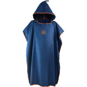 Adults One Size Beach Wetsuit Changing Towel Microfiber Surf Robe Poncho w/ Hood