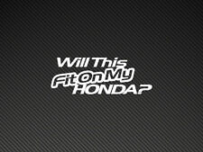 Ce sera adaptée sur ma voiture? HONDA autocollant sticker Honda, Civic, Prélude, HP