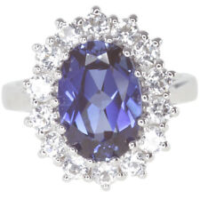Simulated Sapphire Engagement Fine Rings