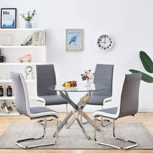 4PCS Faux Leather Modern Dining Chairs  for Dining Room,Kitchen, Living Room