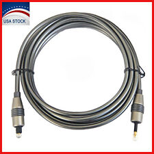 Toslink to Digital Mini 3.5mm Optical Audio Cable SPDIF Optic Fiber Plug 6 Feet