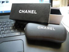 CHANEL  Étui à lunettes SOLAIRE ou optique cuir noir + BOITE  chanel