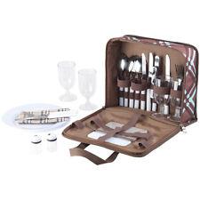 Xcase 30-teiliges Picknick-Set für 4 Personen, inkl. Tasche, Teller, Gläser