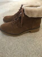 Marks And Spencer Suede Ankle Boots (BRAND NEW NEVER WORN) RRP £65 Size 5.5 Wide