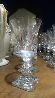 7 verres eau vin en cristal anciens 1950 style louis XIV en cristal signé