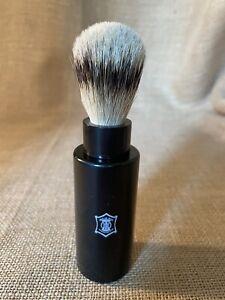 Super Badger Black Travel Shaving Brush Handmade in England New Old Stock