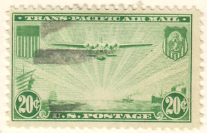 USA - Airmail - 1937 China Clipper over the Pacific