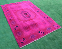 Turkish Rug 61''x93'' Handknotted Fuschia Color Transition Modern 5'1''x7'7''