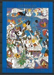 Faroe Islands - Christmas Seals 1988 - Full Sheet - VF MNH ** !!!!!  (A2547)