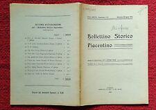 GG464-PIACENZA, BOLLETTINO STORICO PIACENTINO, CASTELL' ARQUATO E TEMPLARI, 1942