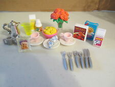 I Vintage Barbie Fashion Doll Accessories Lot Breakfast Brunch Food Dishes Motts