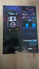 NSM Performer Wall 2000 CD Wallbox Jukebox sales brochure / flyer / pamphlet