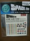 COZMIC SCALE MODELS SPACE 1999 1:48 Scale CARGO BOXES DECALs (3) Different Sets