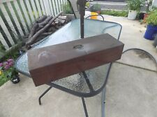 ANTIQUE DRAFTING TOOLBOX WITH WOODEN FRENCH CURVES RARE