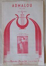 partition ADMALOU - Jean Degeorge - accordéon orchestre