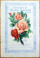 1900 Chicoree/Moka Advertising w/Victorian Diecut Scrap: Roses/Flowers - 1