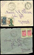 France cols 1941 Cameroun couverture + front ngaoundere à Yaoundé Commission B
