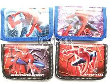 Free shipping 12 pcs Spider-Man children folding wallet purses gift bags