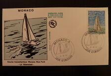 MONACO PREMIER JOUR FDC YVERT  1490      TRIMARAN        4F        1985