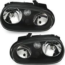 Design Scheinwerfer Klarglas für VW Golf 4 IV Bj. 97-03 Schwarz ohne NSW