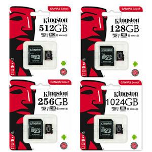 Kingston 64GB 128GB 256GB Micro SD Car Memory Card TF Class10 With Adapter Lot