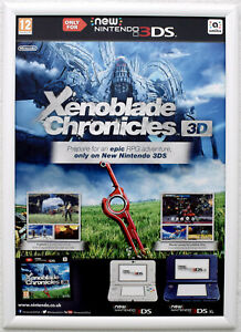 Xenoblade Chronicles 3D RARE 3DS 42cm x 59cm Promotional Poster