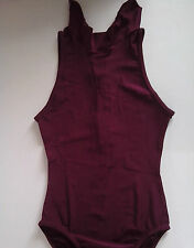Dance wear Maroon high neck Leotard and leggings   Size 3A  Made in England