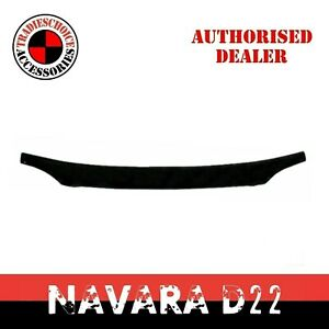 Bonnet Protector for Nissan Navara D22 Tinted Black Guard NEW