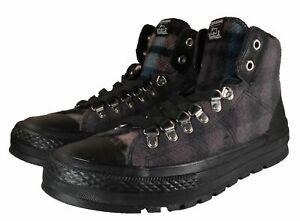 Converse Woolrich Chuck Taylor Street Hiker Hi Sneaker Plaid 8 Men (9.5 Women)