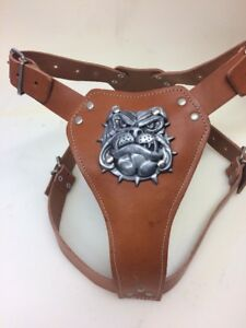 British Bulldog leather dog harness