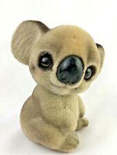 """Josef Originals Koala Bear figurine vintage 3 1/2"""" H Plump Flocked"""