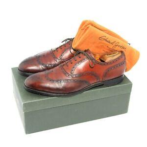 Mens Edward Green Vintage Brogue Shoes Hand Made Brown Size UK 9.5 US 10 EU 44