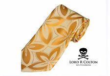 Lord R Colton Masterworks Tie Sun Gold Pearl Drones Woven Silk Necktie New