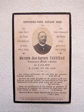 IMAGE d' AVIS MORTUAIRE : Jean Baptiste TOURTEAU, 4 juin 1919, Brûlon (Sarthe)