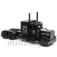 NEW RAY 11643 BLACK OUT MIA POW PETERBILT INTERNATIONAL TRUCK CAB 1/32 BLACK