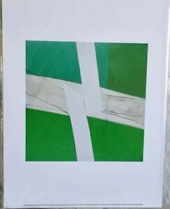 SANDRA BLOW : GREEN AND WHITE GICLEE PRINT (40 X 30 Cm) Excellent Condition