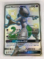 Mewtwo GX SHINY FULL ART SECRET ULTRA RARE SV59/SV94 Pokemon SM Hidden Fates NM